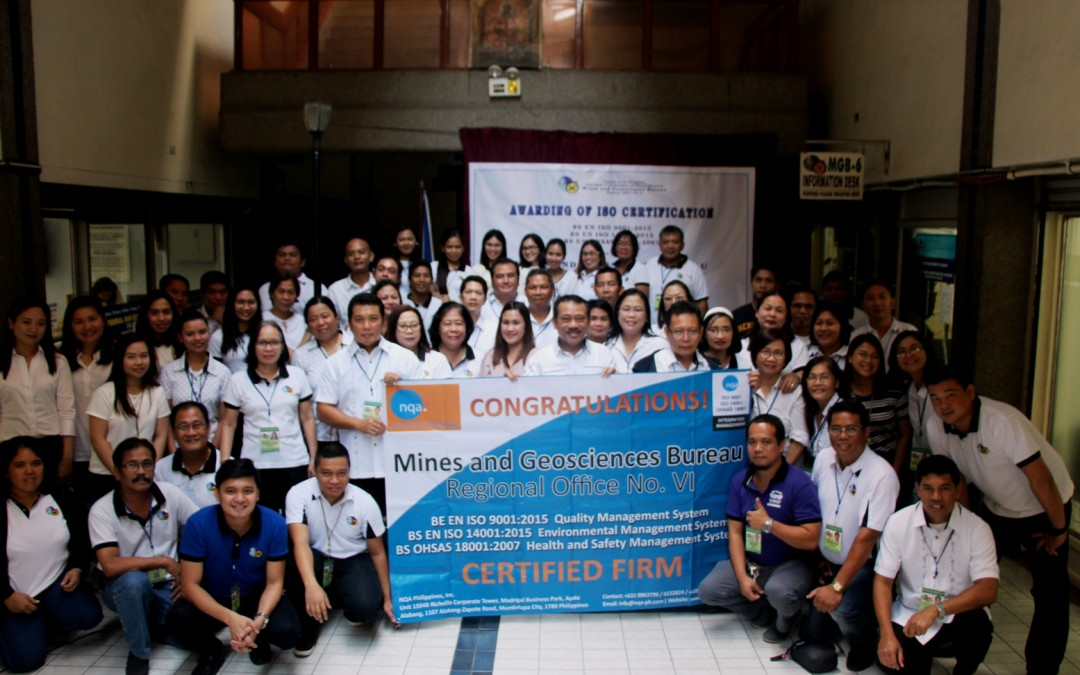 MGB, DENR RO-6 certified in three ISO standards