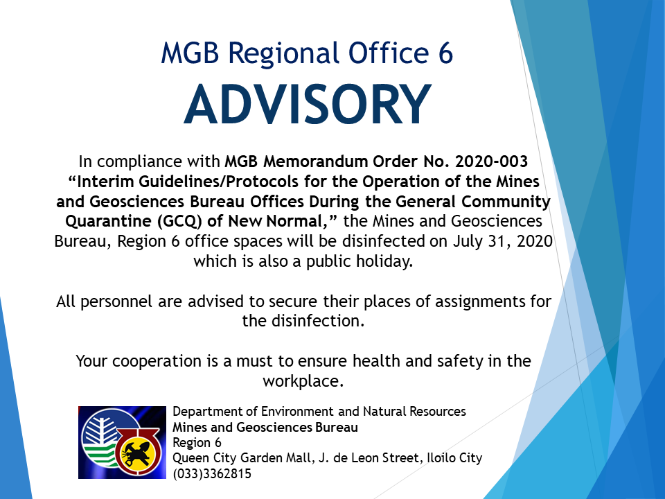 Announcement disinfection July 31, 2020